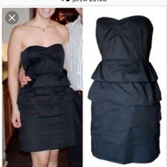 J. Crew Dresses & Skirts - J crew strapless dress NWOT navy sz 8 style 25108